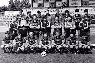 Отборът на Локо (Русе) през 1984 г.