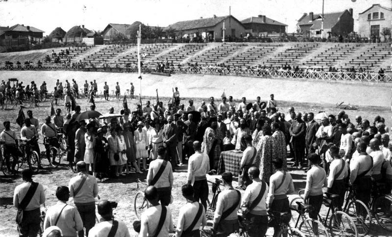 Освещаване на колодрума през 1935 г.
